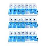 Schramm® 3er Pack Tablettenbox Nicht teilbar