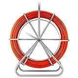 Fibra Di Vetro Sonda Passacavi 6MMX130M, Professionale Canna da Pesca per Bacchette Nastro in Fibra di Vetro Continua, Infila Cavo Elettrico Estrattore in Esecuzione Estrattore a Fune Filo Retrattile