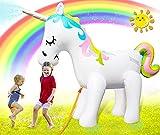 Unicorn Sprinkler for Kids Outdoor Play, Inflatable Giant Unicorn Sprinklers for Outside, Backyard Water Fun Blow Up Unicorn Sprinkler for Yard, Unicorn Sprinklers Inflatable Water Toys