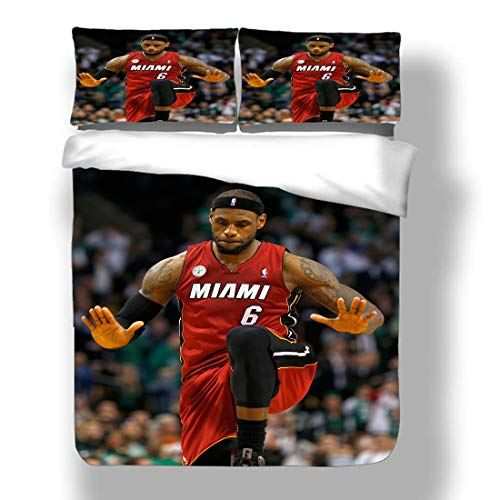 Duvet Cover Set National Basketball Player Bedding Association Playoffs Finals Allstar Super Star Double Pump Bench Player Quilt Coverlet with 2 Pillow Shams Eastern Western Conference Semifinals