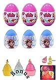 Posh p 6 New Disney Princess Plastic Surprise Eggs with 2D Figure