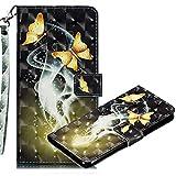 MRSTER Nokia 4.2 Case, 3D PU Leather Flip Wallet Shockproof