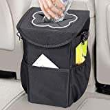 MOSFiATA Car Trash Can, Foldable and Waterproof Auto Garbage Bag 10L Oxford