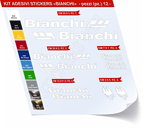 Pimastickerslab sticker voor fiets, Bianchi_Kit 2_Kit stickers, 12 stuks