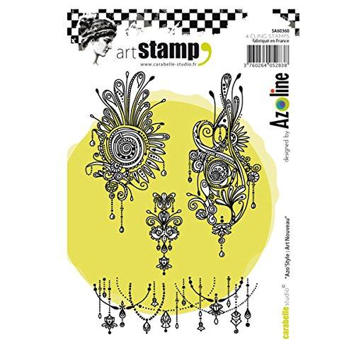 Carabelle Studio Cling Stamp Art, Stempel Set, AZO 'Jugendstil, für Papierbasteln, Stempelprojekte,...