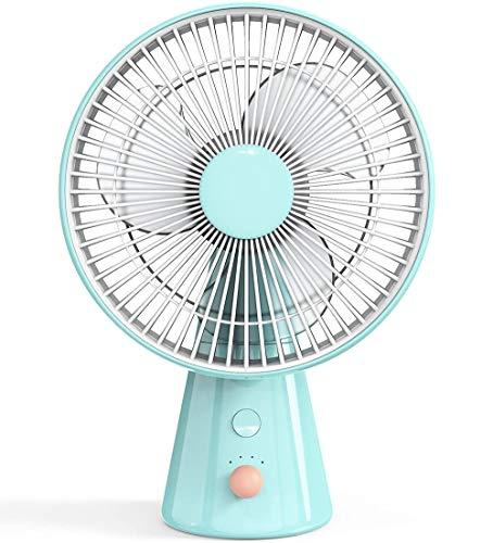 L&B-MR Ventilador de Mesa de 25 cm, oscilación de 100 Grados, Ventilador de Pie Potente de 4 Velocidades, Extra silenciosa, ideale per casa e ufficio