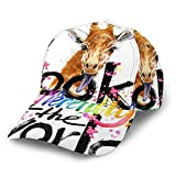 Corner Time Small Artificial Flowers Watercolor Giraffe Look Diffrently at The World Personalized...
