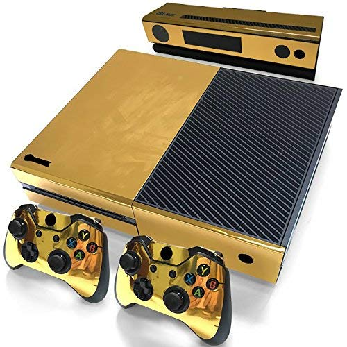 Mcbazel Pattern Serie Decals Vinyl Skin Aufkleber for Xbox One(Gold Glossy)