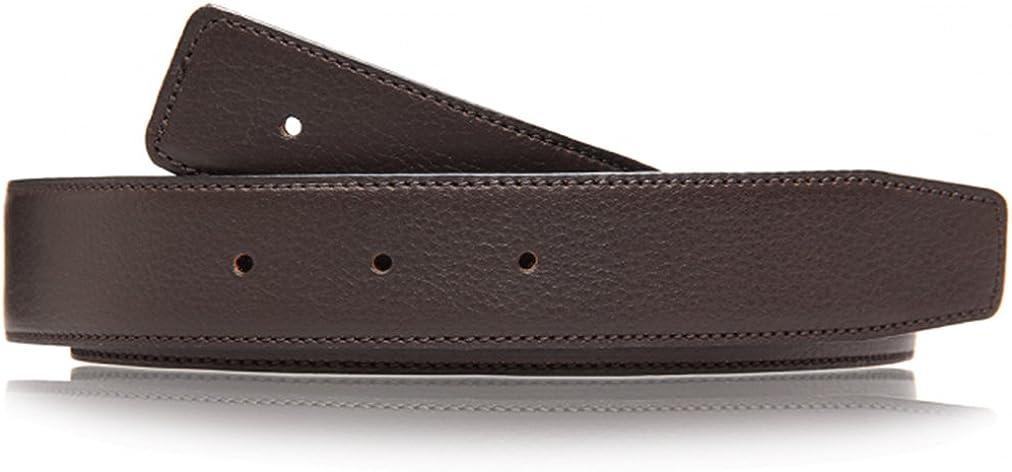 Cuero de color marrón, cinturón reversible de auténtica piel para hombre y mujer, cinturón de 4 cm de ancho