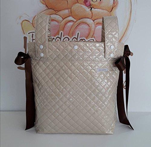 Bolso Panera para Cochecito de Bebé de Plástico Camel con nombre Bordado...