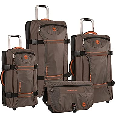 Timberland 4 Piece Spinner Luggage Set, Cocoa