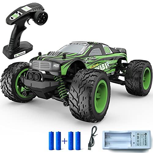 Toyabi - Coche teledirigido para coche (40 km/h, 40 km/h, mando a distancia de 50 minutos de autonomía, coche, 4 WD para coche, radio controlada, con 4 pilas de tierra para niños y adultos