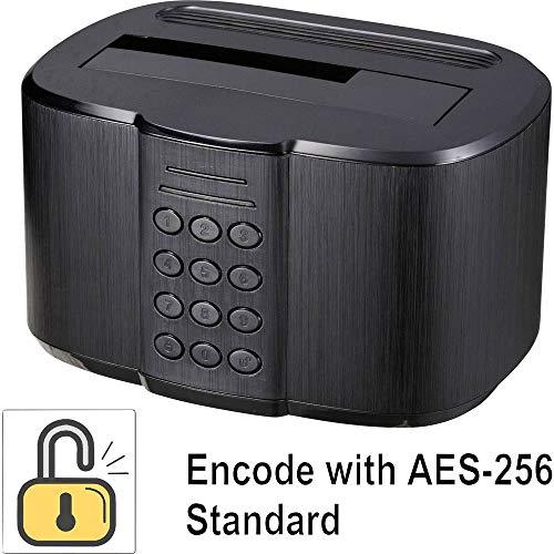 Renkforce USB 3.0 SATA 1 Port Festplatten-Dockingstation mit Zugriffssicherung