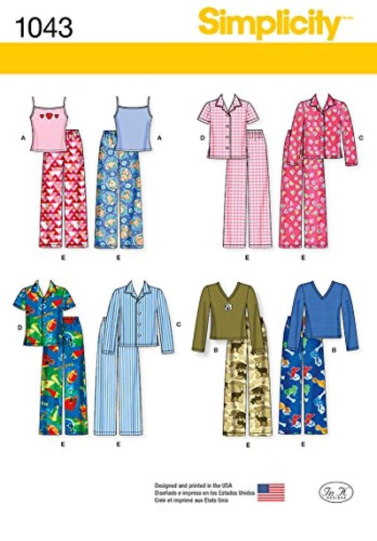 Simplicity Children's Matching Pajamas Sewing Pattern, Sizes 3-6