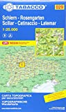 Schlern, Rosengarten, Latemar, Regglberg: Wanderkarte Tabacco 029. 1:25000 (Cartes Topograh) (CARTES TOPOGRAHIQ - 1/25.000) - Tabacco