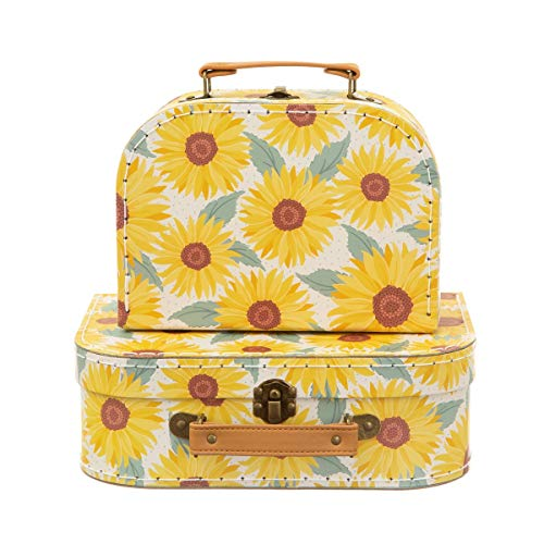 Sass & Belle Sunflower Suitcases - Set of 2