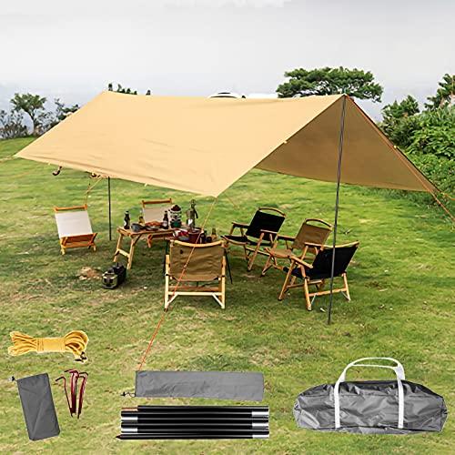 ZXC Toldo Vela de Sombra Toldo Triangular Vela Impermeable Protección Rayos 95% UV,Toldo Resistente e Lmpermeable,para Patio,Exteriores,Jardín(Color: Caqui)(Size:4 * 3m)