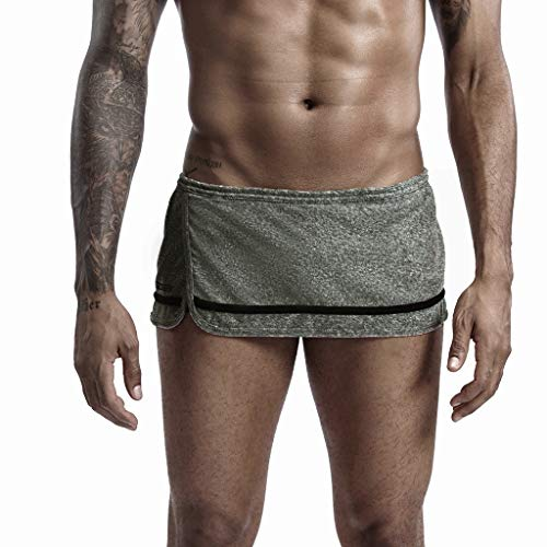 2020 Nouveau Short Homme Sport Hommes Running Coton Style Accueil Shorts de SportPantalon Couleur Unie Mode Accueil Maillots de Bain Swim Séchage Rapide avec Doublure en Maille et Sacs