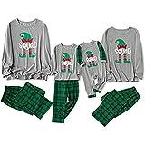 Sanahy Weihnachten Pyjamas Familie, Nachtwäsche Anzug Langarm Tops + Lange Hosen Winter Weihnachten Männer Frauen Kinder
