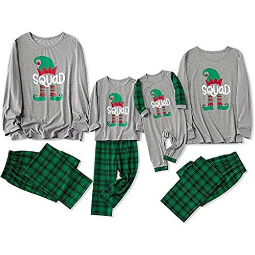 Aoogo Damen Weihnachten Langarm Cartoon Kitz Drucken Eltern Kind Hausdienst Schlafanzug Pyjamas Daunenanzug Overall Ausstattungs Bekleidungsset