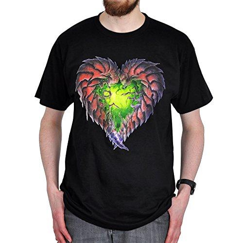 StarCraft 2 T-Shirt Zerg Heart zum Spiel schwarz Baumwolle - XXL
