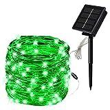StMiYi Guirnalda Luces Exterior Solar Cadena de Luces LED,Ocho Modos de Flash,Impermeable Inteligente Decoración para Navidad,Fiestas,Bodas,Patio,Dormitorio Jardines,Festivales,etc