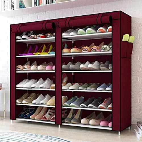 BaiJaC Estante de Zapatos, Gabinete de Zapatos a Prueba de Polvo 6 Niveles de Zapatos 36 Pares de Zapatos Organizador de Almacenamiento de Zapatos, 120 x30 x110cm (Color: a) (Color : E)