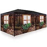 Deuba Carpa de jardín para Fiestas 6x3m pabellón para Camping Fiesta Oktoberfest Enrollable con 6 Paredes Laterales