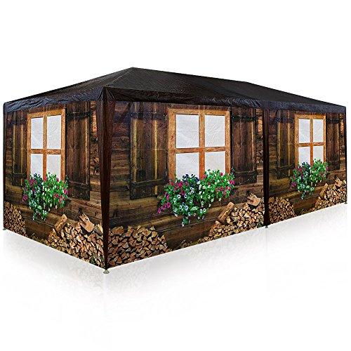 Deuba Pavillon 3x6m 18m² 6 rollbare Seitenwände Partyzelt Gartenzelt Festzelt Zelt Apres Ski Bierzelt Almhütte