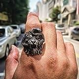 GMZWW León y Serpiente Anillo de Acero Inoxidable Anillo de Motociclista quimera para Hombres Mitología Animal Jewelry 9