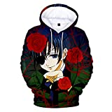 CCEE Anime Black Butler der Infinity 3D Hoodie Frühling und Herbst Lose Männer und Frauen mit Kapuze Sweatshirt Lässiger Punk Street Style Trainingsanzug
