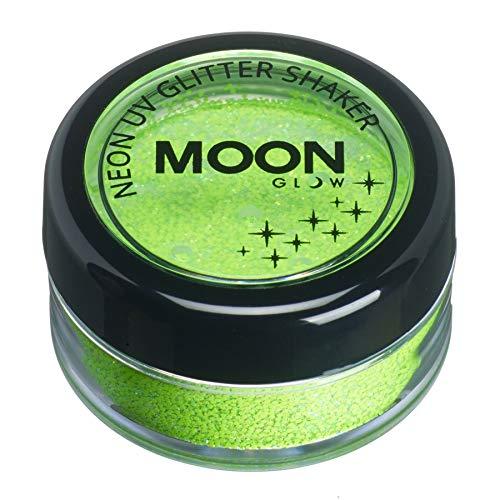 Moon Glow - Agitador de brillantina neón UV 5g Verde - produce un brillo increíble bajo la iluminación/retroiluminación UV!