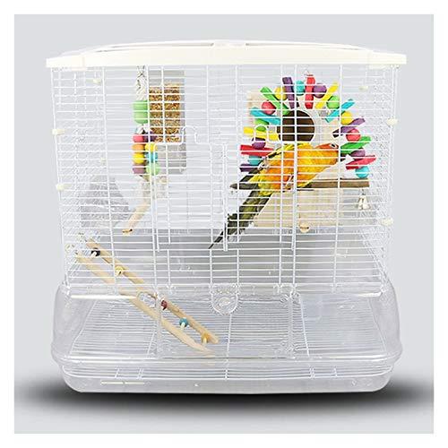 zxb-shop Gabbia per Uccelli Prodotti per Animali Domestici Gabbia di Volo acrilica, Gabbia per Uccelli di economia Piatta, Gabbia Pappagallo, Grande Villa Bianca Nido d'Uccello
