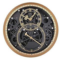 LZDD Miao Clock Engraved Gear 008 Cosmopolitan Atmosphere Thick Texture Grade Retro Clock Living Room Wall Clock Decoration