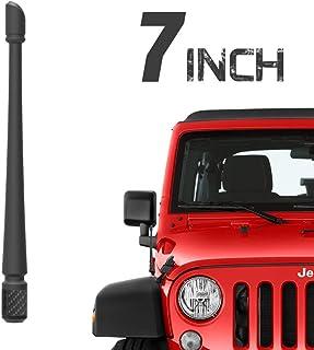 Rydonair Antenna Compatible with 2007-2020 Jeep Wrangler JK JKU JL JLU Rubicon Sahara Gladiator, 7 inches Flexible Rubber Antenna Designed for Optimized FM/AM Reception