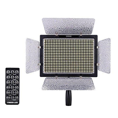 Yongnuo YN-600 600LED Temperatura Studio Video Colore chiaro della lampada regolabile per videocamera Canon Nikon DSLR Power adattatore + a distanza