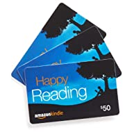 Amazon.com $50 Gift Cards, Pack of 3 (Amazon Kindle Card Design)