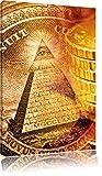 Pixxprint Illuminati Pyramide als Leinwandbild   Größe: