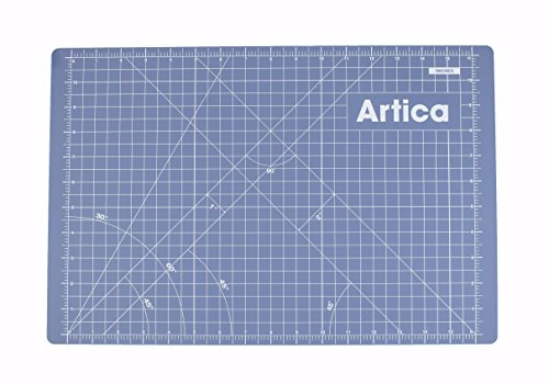 """Artica Double-Sided Self-Healing Rotary Cutting Mat, One Side Inches, Other Side Metric, Provides Maximum Flexibility For Your Projects. Great for Crafts, Art, Makers, Quilting, Sewing. (A3 (18""""x12""""))"""