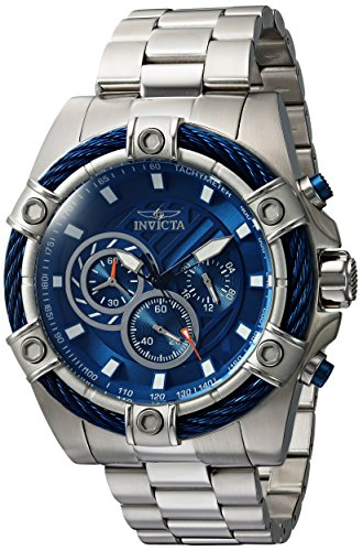 Invicta Men's Bolt Quartz Watch with Stainless Steel Band, 16 (Model: 25513)