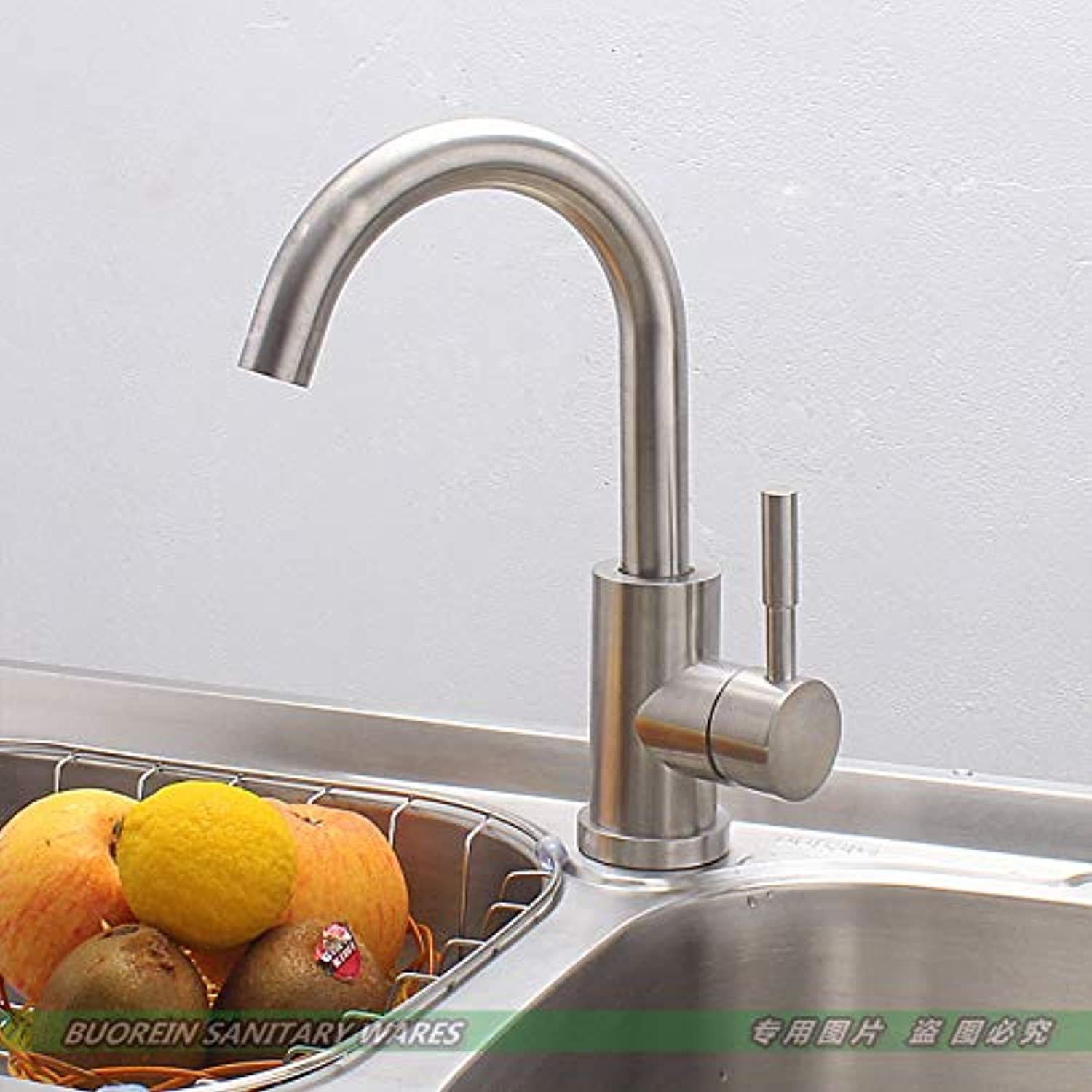 redOOY Taps Stainless Steel Faucet Sink Sink Kitchen Faucet Hot And Cold Water Temperature Mixing Valve