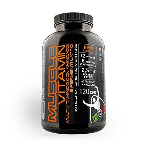 NET Muscle Vitamin multivitaminico con aminoacidi e fermenti lattici 120 tabs