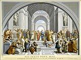 Poster 70 x 50 cm: Schule von Athen (nach Raffael) von
