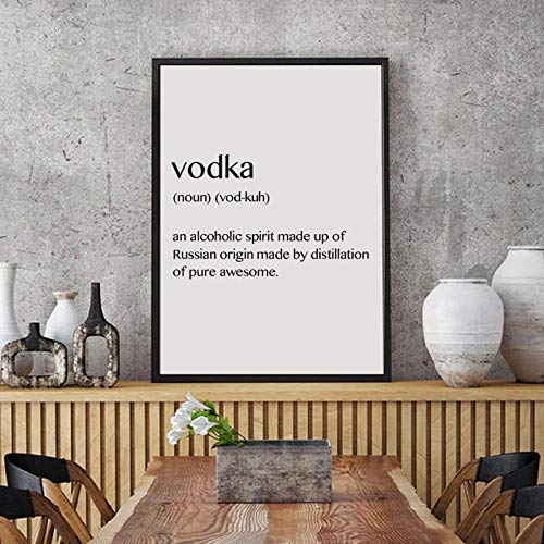 Wodka Definitie muur Kunst Canvas Poster Drukken, Feestdecoratie Russische Kunst Schilderen Afbeelding Rusland Gift Minimalisme Art Foto 60x90cm geen Frame