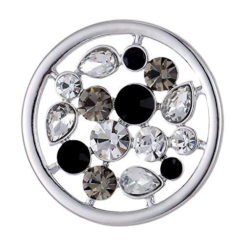 Morella Damen Coin 33 mm Universum mit Zirkoniasteinen Silber