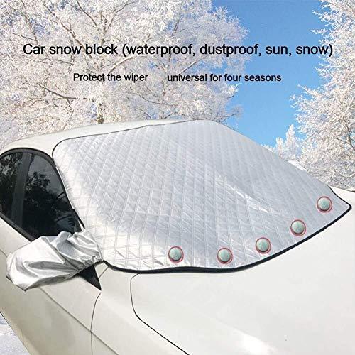 Qbylyf Auto Voorruit Sneeuw Cover, Voorruit Cover voor IJs en Sneeuw Waterdicht met Spiegel Cover Winter & Auto Zonneschermen, UV Bescherming Extra Dikte/Grote Magnetische Cover voor Auto Bescherming