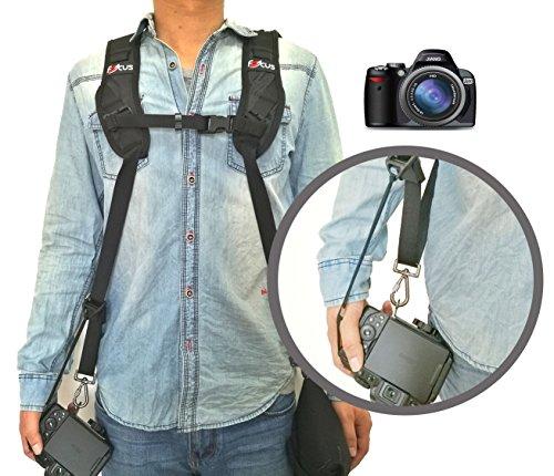 OP//TECH Imbracatura doppia per portare 2 macchine fotografiche Nero in neoprene colore