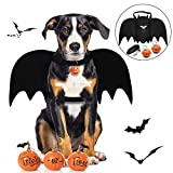 Dog Halloween Costumes Size: Neck 28-40cm(11-15.7in), Chest 37-70cm(14.5-27.5in), adjustable for small, medium and large dogs and large cats. Unique Design:The bat wings for dogs with a gold bat and a metal buckle on the back;except the bat wings the...