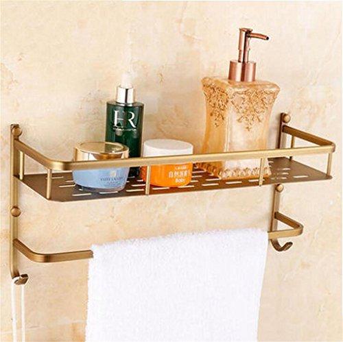 FAFZ Salle de bain Etagère, Salle de bain Etagère de style européen, Double-couche de bain rack (couleur : 1#)