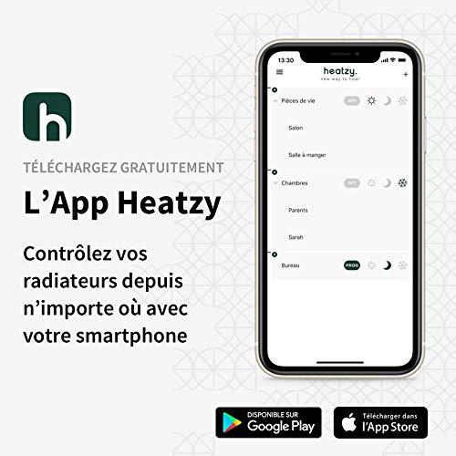 HEATZY - Objet Connecté - Programmateur/Thermostat Connecté et Intelligent Filaire - Pour choisir à distance le mode de chauffe de vos radiateurs